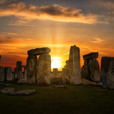 Experience sunset at Stonehenge