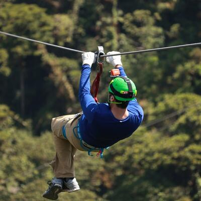 Go on a zip line