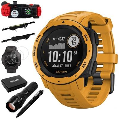 Garmin Instinct Rugged Outdoor Watch w/ GPS, Sunburst